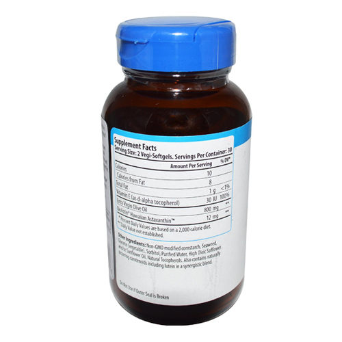 BioAstin Supreme Supplement Facts